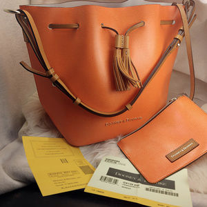 Authentic Orange Dooney & Bourke Purse Handbag